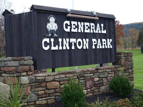 General Clinton Park Welcome Sign